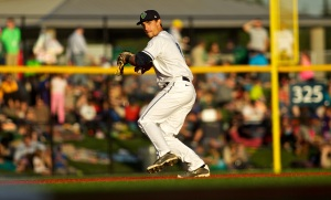 Hops shortstop Justin Gonzalez was involved in a remarkable way to end a game. (Craig Mitchelldyer/Hillsboro Hops)